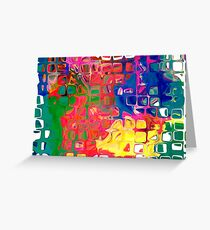 Abstract pattern digital painting electronic love no8 Greeting Card