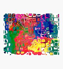 Abstract pattern digital painting electronic love no8 Photographic Print