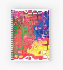 Abstract pattern digital painting electronic love no8 Spiral Notebook
