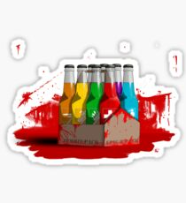 Zombie 8-Pack Bloodied Sticker