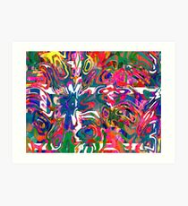 Abstract pattern digital painting electronic love no 9 Art Print