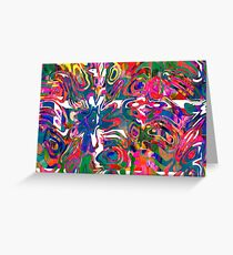 Abstract pattern digital painting electronic love no 9 Greeting Card