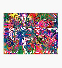 Abstract pattern digital painting electronic love no 9 Photographic Print