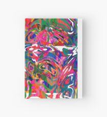 Abstract pattern digital painting electronic love no 9 Hardcover Journal