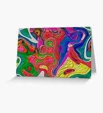 Abstract pattern digital painting electronic love no 10 Greeting Card
