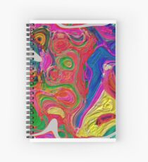 Abstract pattern digital painting electronic love no 10 Spiral Notebook