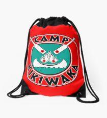 Camp Kikiwaka - Bunk'd - red background Drawstring Bag