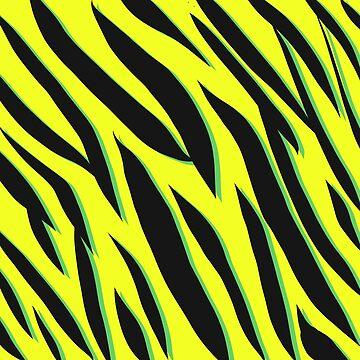 Green Zebra Stripe by iconymous