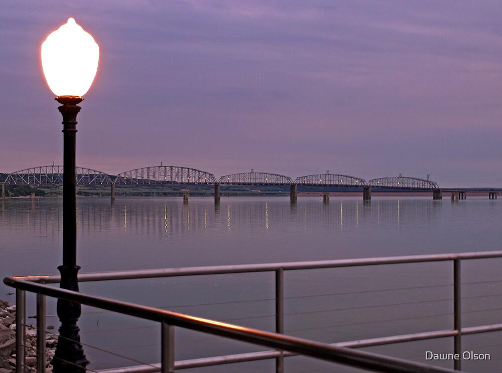 Missouri River at Chamberlain by Dawne Olson