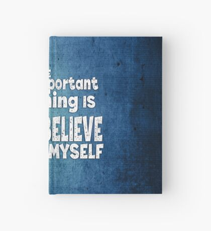 Mermaid - The Important Thing Is I Believe In Myself - Grunge Denim Hardcover Journal