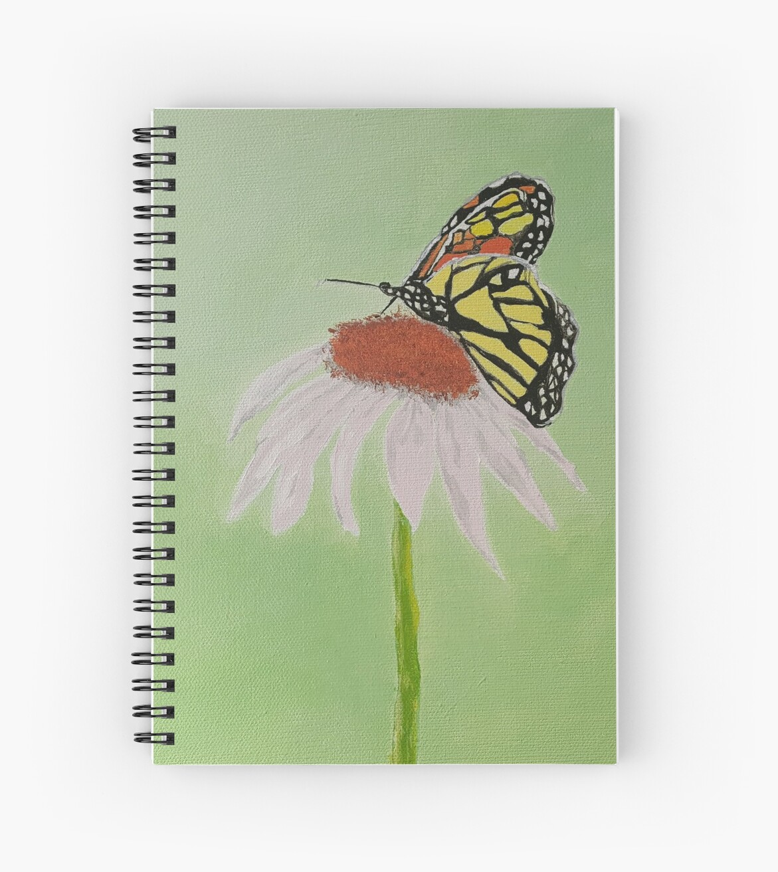 """""""Taking A Break"""" butterfly on flower by Michelle  Long"""