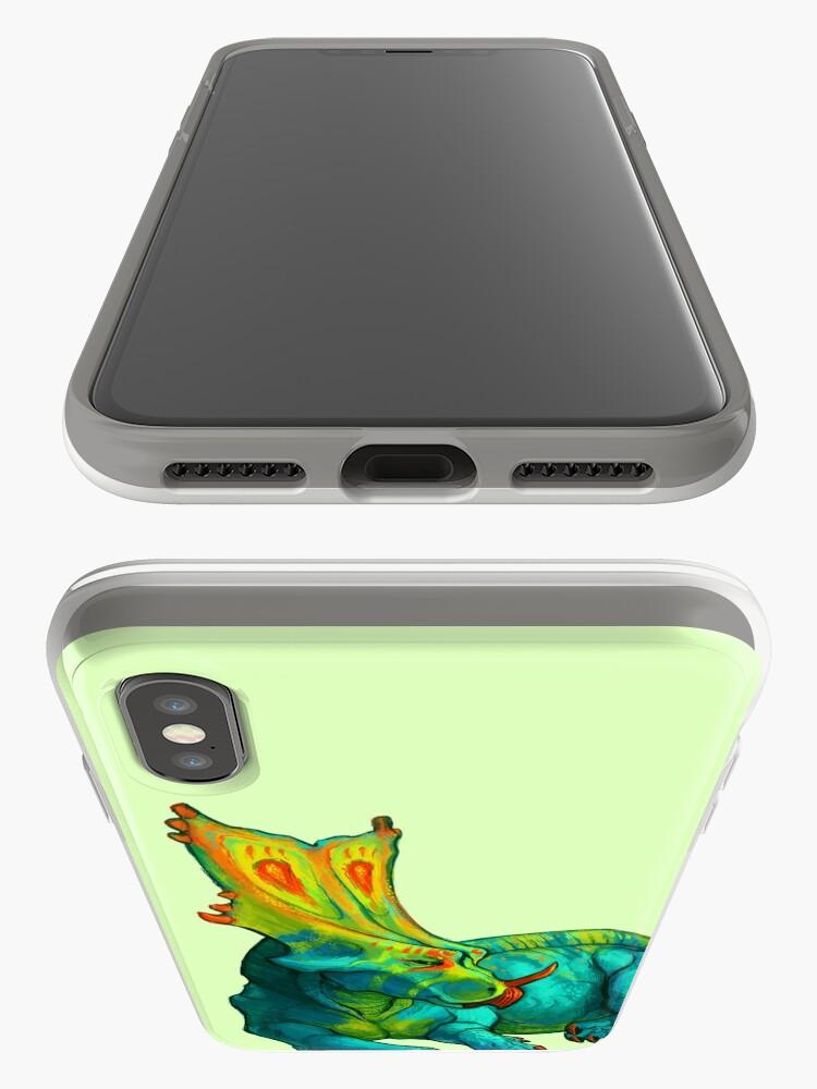 Vista alternativa de Funda y vinilo para iPhone Chasmosaurus belli
