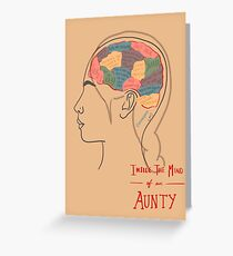 The Mind of an Auntie Greeting Card
