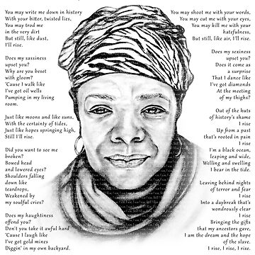Still I Rise Print Maya Angelou Poem by EKartPrints