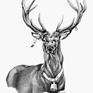 Father Christmas Stag by Patricia Howitt