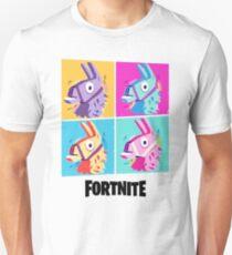Fortnite Battle Royale Four Llamas Pop Art Shirt Unisex T-Shirt