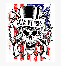 guns USA skull and roses By Christiano Photographic Print