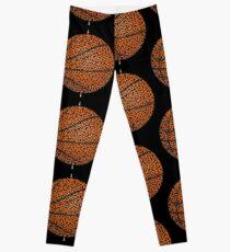 Basketball Shaped Maze & Labyrinth Leggings