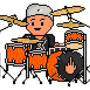 Rock Battle Funk Pixel Drum Legend by gkillerb