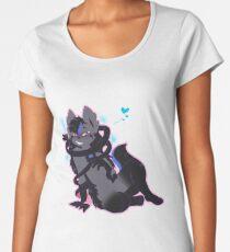 Ribbon Wolf Women's Premium T-Shirt