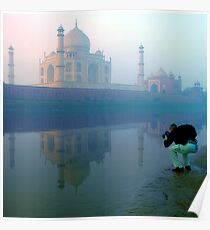 Taj Mahal and the Photographer Poster