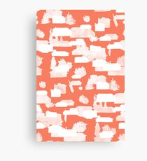 Architectural Pattern - Suburban Ghost Pattern Canvas Print