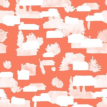 Architectural Pattern - Suburban Ghost Pattern by Theysaurus