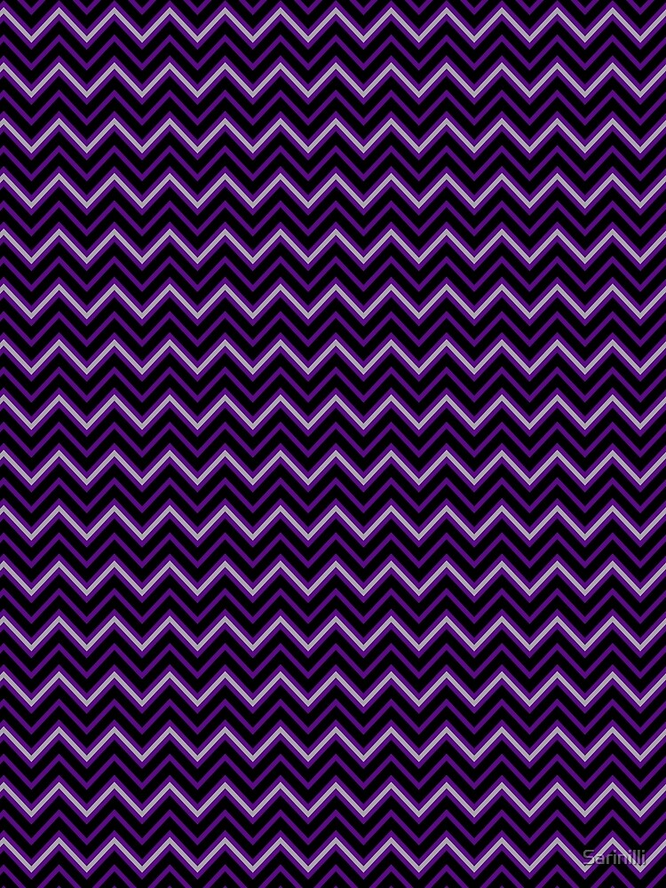 Chevrons - Violet and Pewter by Sarinilli