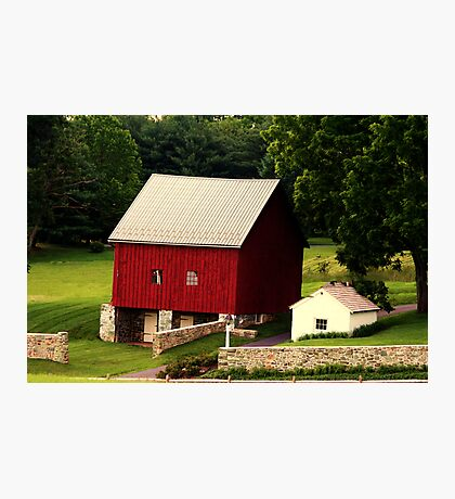 The Barn and Springhouse Photographic Print