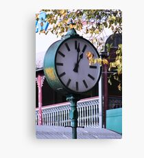 Clock in Healesville -  Country Victoria Canvas Print