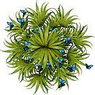 """""""El Bosco fantasy, tropical island blue butterflies"""" by MarCanton"""