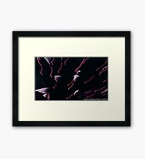 #551   Galactic Flamingos Framed Print