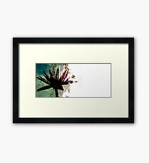 Grunge Flower Framed Print