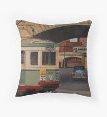 Trams & The Colonnade Throw Pillow
