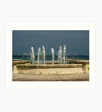 Fountain with a View Art Print