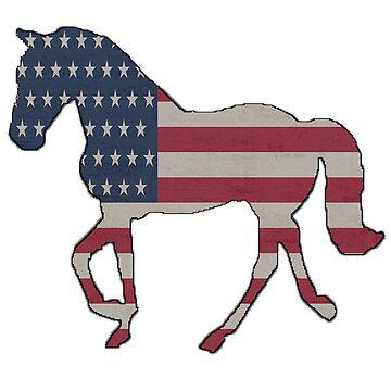 4th of July American Flag Horse by PragmaticFalcon