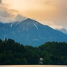 Lake Bled and castle by Ian Middleton