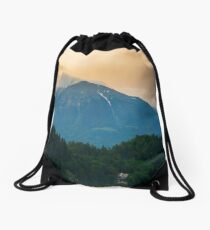 Lake Bled and castle Drawstring Bag