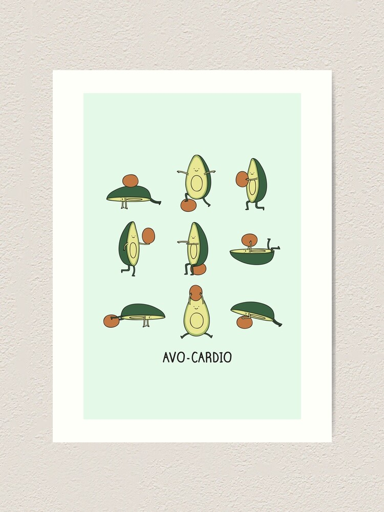 Alternate view of Avo-cardio Art Print