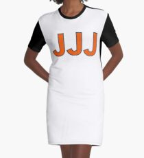 "The Conspiracy Theory of the 3 ""Js"" Graphic T-Shirt Dress"
