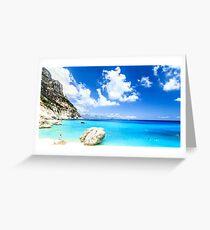 The beautiful Cala Goloritzè in Sardinia Greeting Card