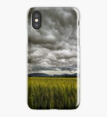 storm over the fields iPhone Case
