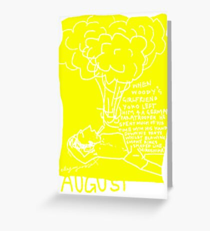 August Greeting Card