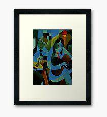 BLUES IN B Framed Print