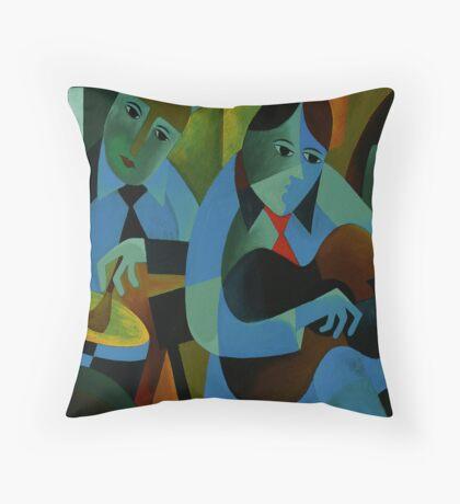 BLUES IN B Throw Pillow