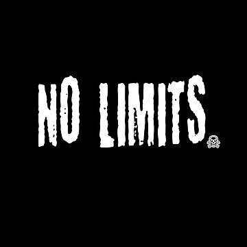 No Limits-motivating speech-quote shirt by XLXDesign