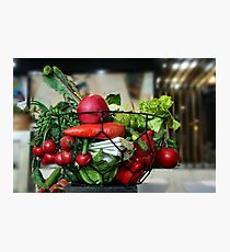 Different colorful vegetables in a metal basket. Photographic Print