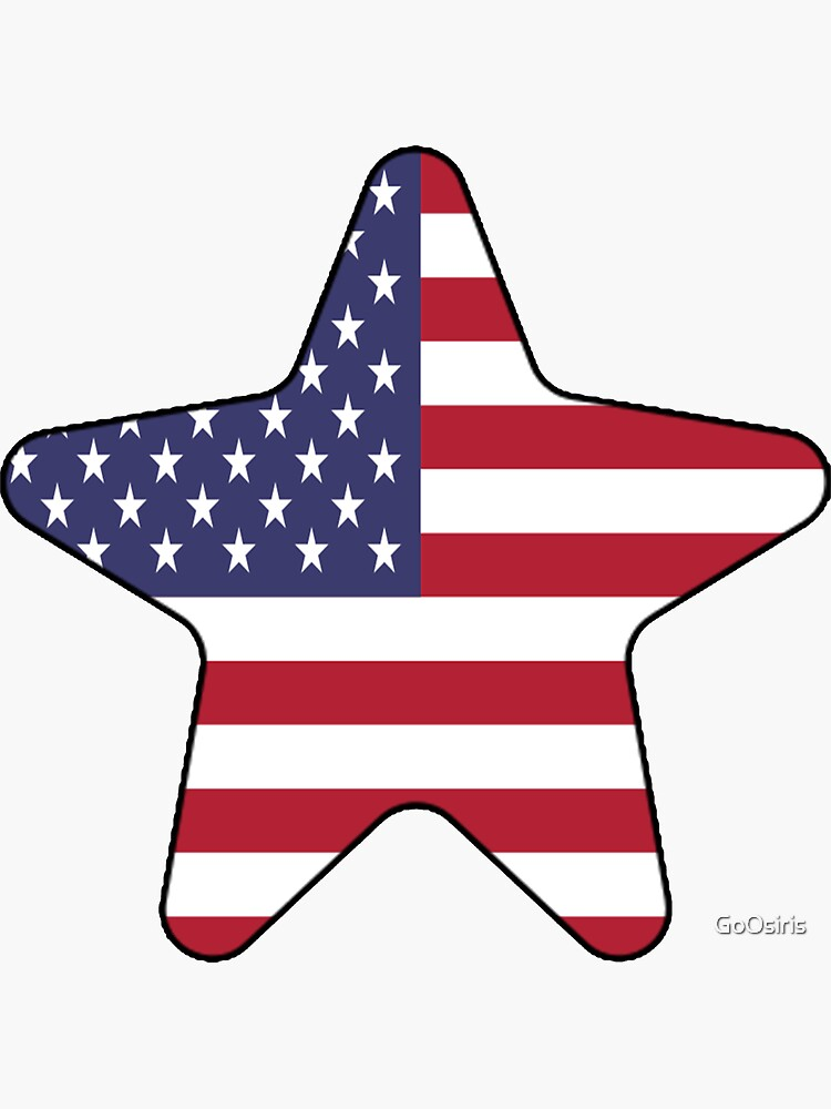 American Flag Starfish Happy 4th of July de GoOsiris