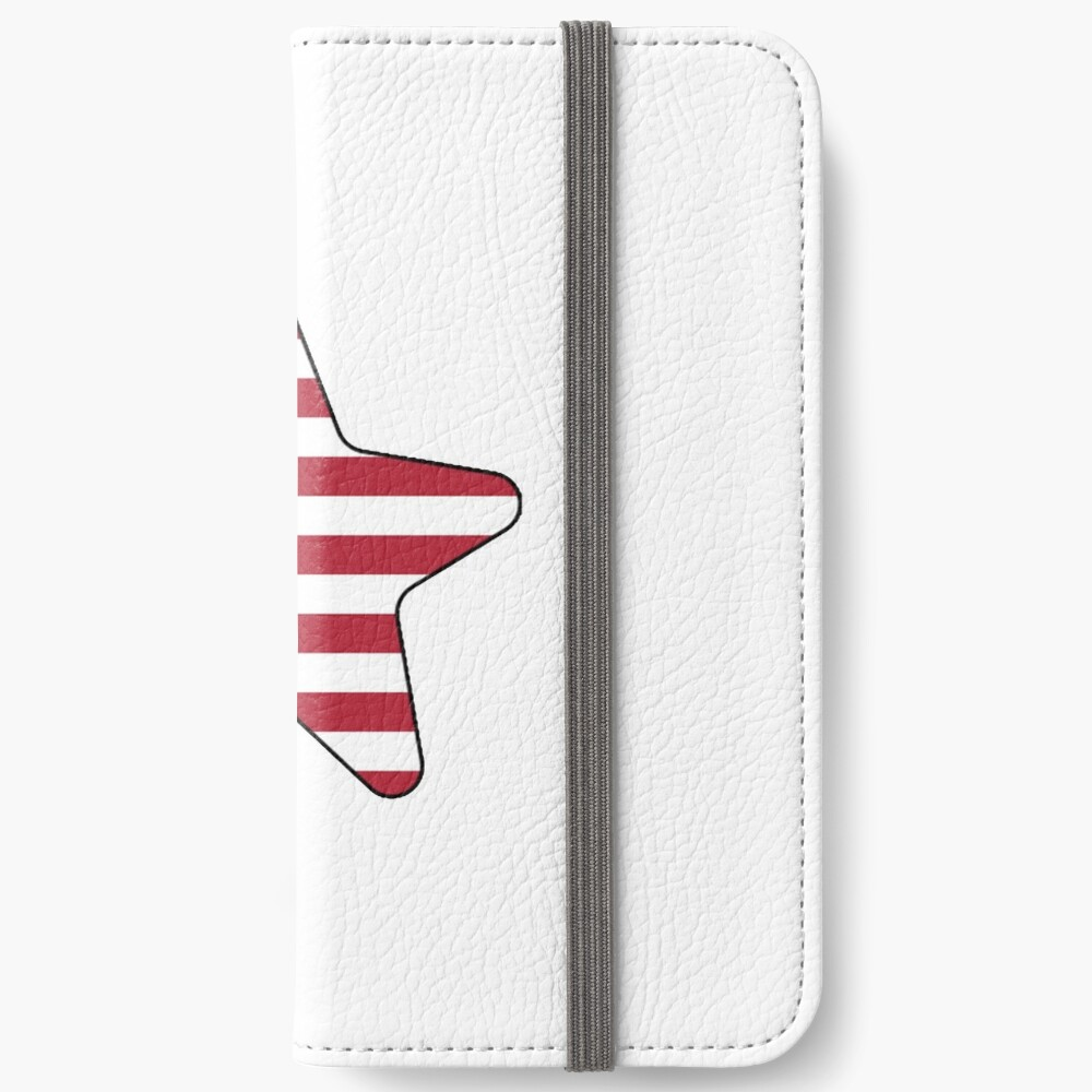 American Flag Starfish Happy 4th of July Fundas tarjetero para iPhone