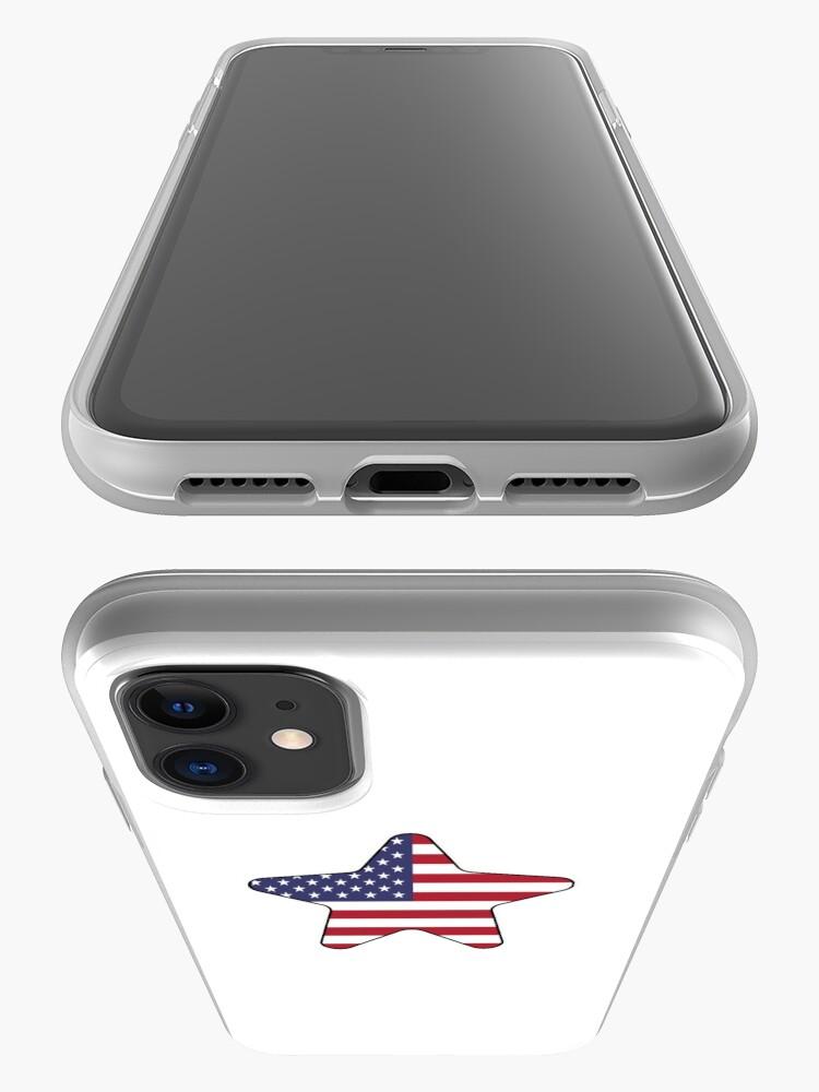 Vista alternativa de Funda y vinilo para iPhone American Flag Starfish Happy 4th of July
